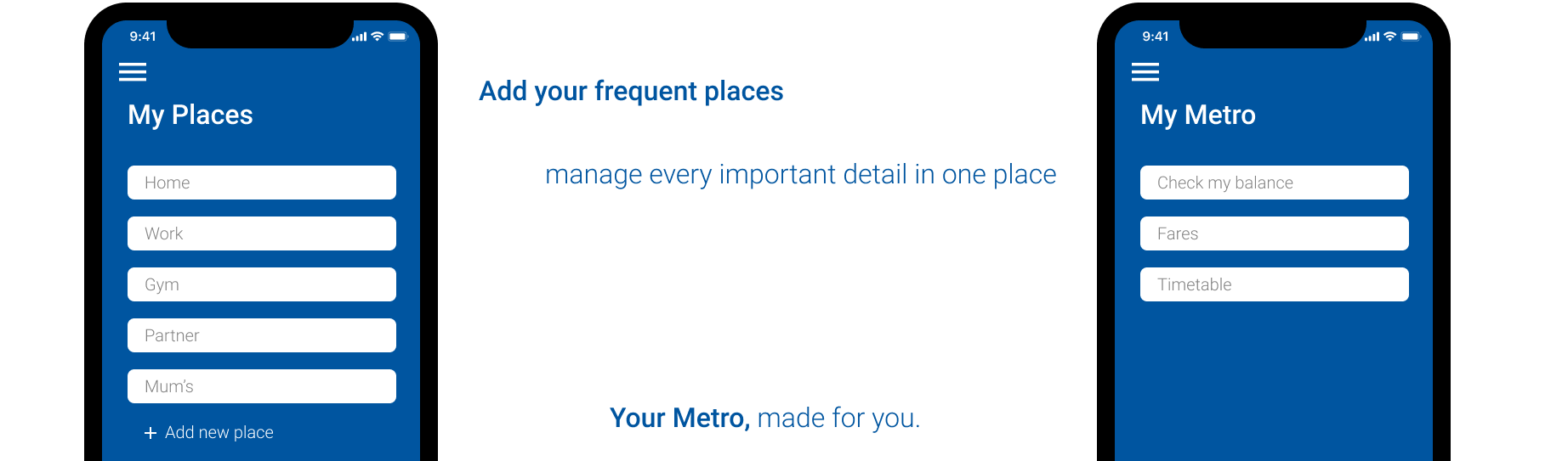 frequent places details screen